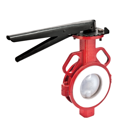 PTFE Sleeved Butterfly Valve
