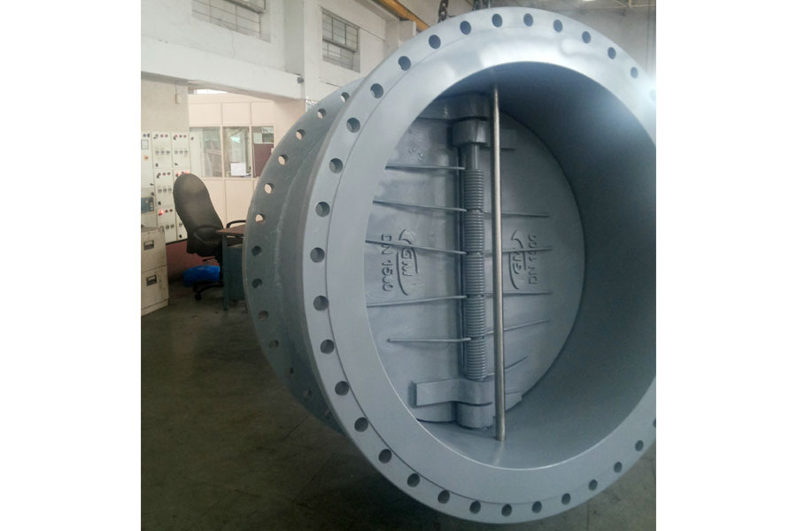 Supplied 1500mm Dual Plate Check Valve